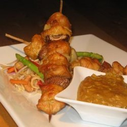 Marinated Chicken Kebabs With a Peanut Satay Sauce recipe
