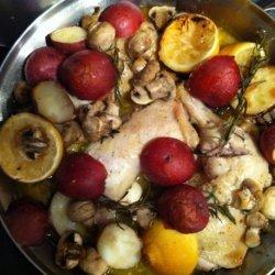Roast Chicken Legs With Lemon & Thyme recipe