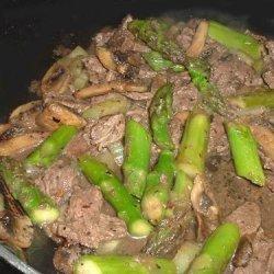 Black Pepper Beef and Asparagus Stir Fry recipe