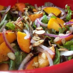 Peach Salad With Balsamic Dressing recipe