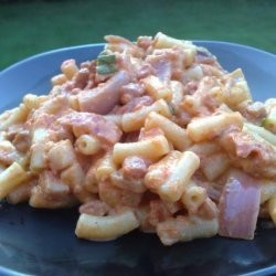 Macaroni With Creamy Sun-Dried Tomato and Pancetta Sauce recipe