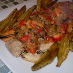 Fillet of Pork With  Mussels (Lomo De Porco Com Amêijoas) recipe