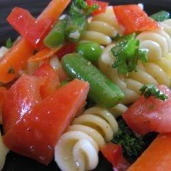 Summertime Garden Veggie Pasta Salad recipe