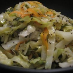 Hot Coleslaw With Poppy-Seed Dressing recipe