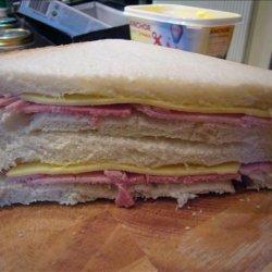 Ham, Cheese and Mayo Sandwich recipe