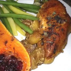 SAUTEED CHICKEN with CURRIED APPLES recipe