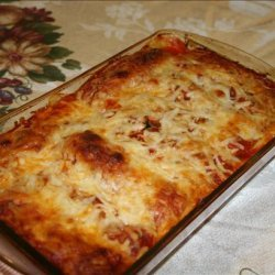 Ground Chicken and Spinach Cannelloni recipe