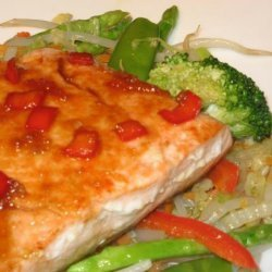 Salmon With Ginger and Orange Sauce recipe