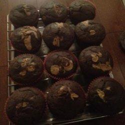 Fudgy Peanut Butter Muffins recipe