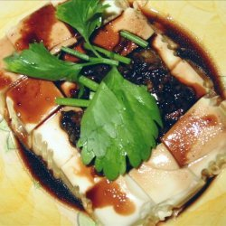 Steamed Bean Curd With Soy Sauce recipe