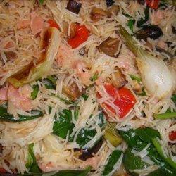 Sockeye Popeye Pasta With Roasted Vegetables recipe