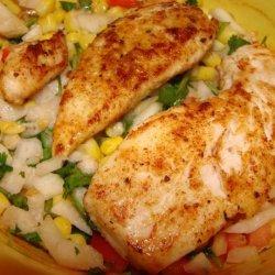 Blackened Chicken Breasts With Cajun Corn Relish (Ww) recipe