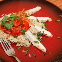 Chicken With Roasted Red Pepper Sauce recipe