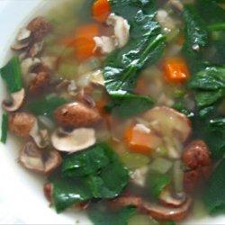Chicken, Spinach & Shiitake Mushroom Soup recipe