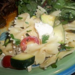 Pioneer Woman's Pasta Salad With Tomatoes, Zucchini and Feta recipe