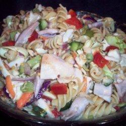 Chicken Coleslaw Pasta Salad recipe