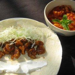Spicy Shrimp or Chicken Wraps recipe