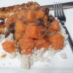 Moroccan Sweet Potato With Couscous recipe