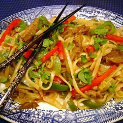 stir fried noodles with curried lamb recipe