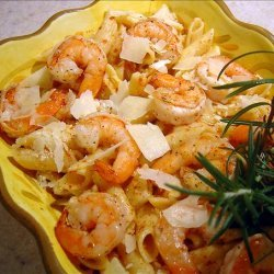 Rosemary Shrimp Penne With Butternut Squash Sauce recipe