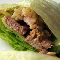 Vietnamese Pork and Scallion Lettuce Wraps recipe