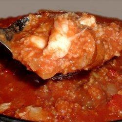 Shrimp, Scallop and Sausage Jambalaya recipe