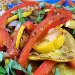 Yellow Squash and Red Pepper Saute recipe