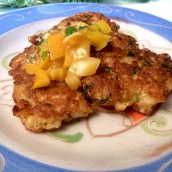 Shrimp Corn Cakes With Citrus Chile Salsa recipe