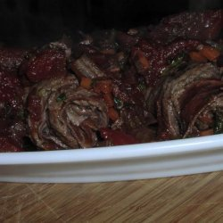 Beef Rolls in Red Wine Tomato Sauce recipe