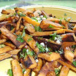 Sweet Potato Fries With Garlic and Herbs recipe