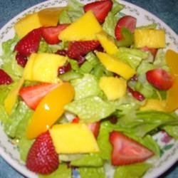 The Really Good Salad Recipe with Pieces of Fruit recipe
