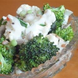 Zesty Broccoli and Cauliflower Salad recipe