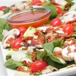Hearts of Palm and Spinach Salad recipe