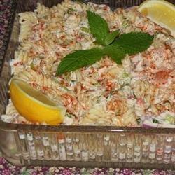 Shrimp and Crab Macaroni Salad recipe
