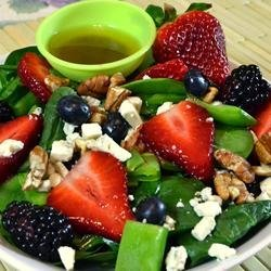 Sugar Snap Pea and Berry Salad recipe
