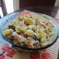 Roasted Potato Salad with Balsamic-Bacon Vinaigrette recipe
