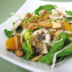 Sugar Toasted Almond Spinach Salad recipe
