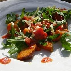 Roasted Sweet Potato and Rocket Salad recipe