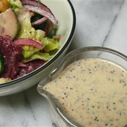 Rainbow Salad with Lemon Poppyseed Dressing recipe