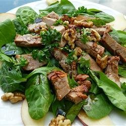 Pork, Pear and Walnut Salad recipe