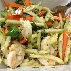 Green Apple, Jicama, and Prawn Salad with Mint, Lemongrass, and Dijon Dressing recipe