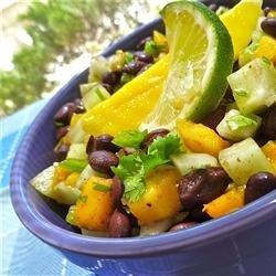 Cucumber, Mango, and Black Bean Salad recipe