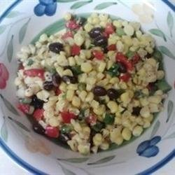 Spicy Corn and Black Bean Salad recipe