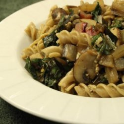 Fusilli With Mushrooms and Chard recipe