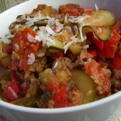 Mild Italian Sausage, Tomato & Zucchini Stew recipe
