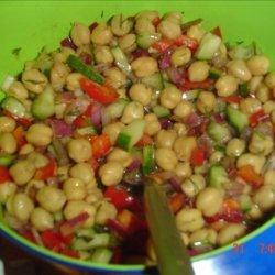 Low Fat Chickpea Salad (Kosher-Pareve) recipe