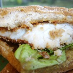 Cornmeal Crusted Tilapia Sandwiches With Lime Butter recipe