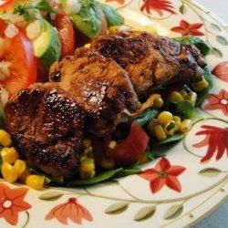 Healthified Marinated Pork With Summer Corn Salad recipe