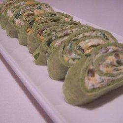 Not so Irish, Green Tortilla Appetizers recipe