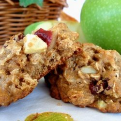 Low Fat Apple-Cranberry Breakfast Cookies recipe
